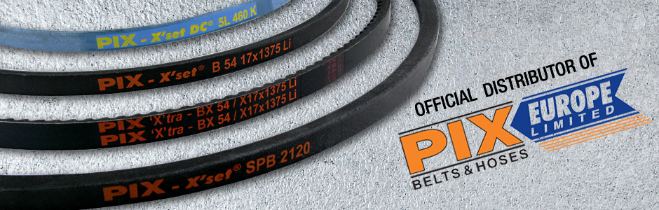 Official Distributor of PIX Belts & Hoses