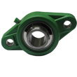 35mm Green Thermoplastic 2 Bolt Flange Bearing