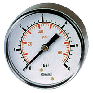 Steel Case, Dry Gauge - 100mm Diameter