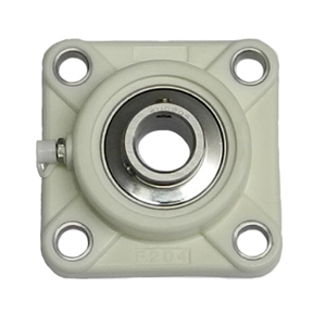35mm Green Thermoplastic 4 Bolt Flange Bearing