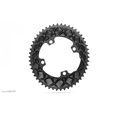 Absolute Black Road Oval 2X For All FSA ABS Cranks 4 & 5 Bolt