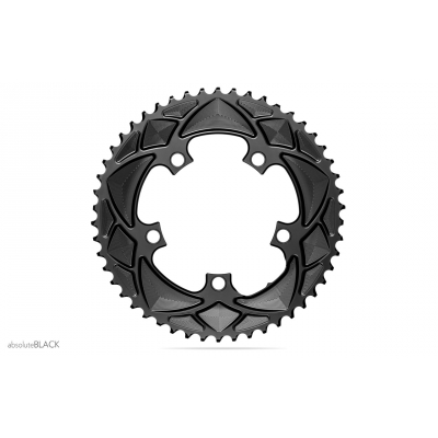 Absolute Black Road Round 2X For All Shimano 110/5