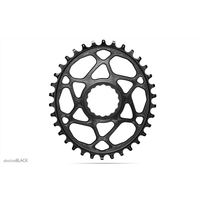 Absolute Black MTB Oval Raceface Cinch DM Boost 148 (3mm Offset) For 12SP Shimano HG Chain