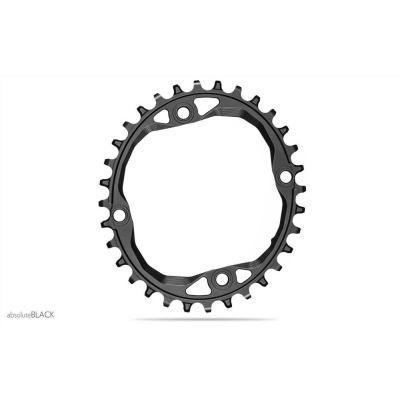 Absolute Black MTB Oval 104 For 12SP Shimano HG Chain