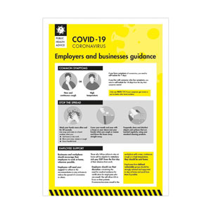 Covid 19- Employers and businesses guidance poster