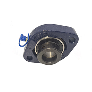 17mm 2 Bolt Flanged Bearing (Flat Back Eccentric Locking Collar Insert)